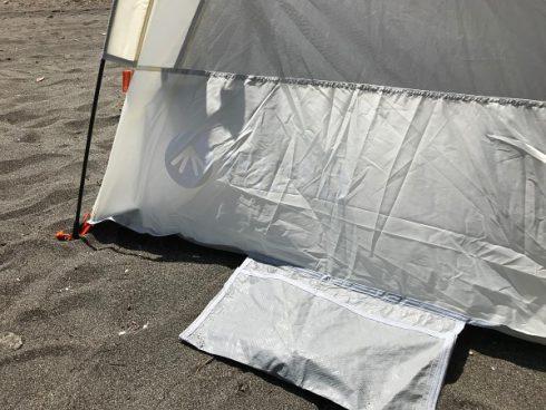 風に強いビーチテント